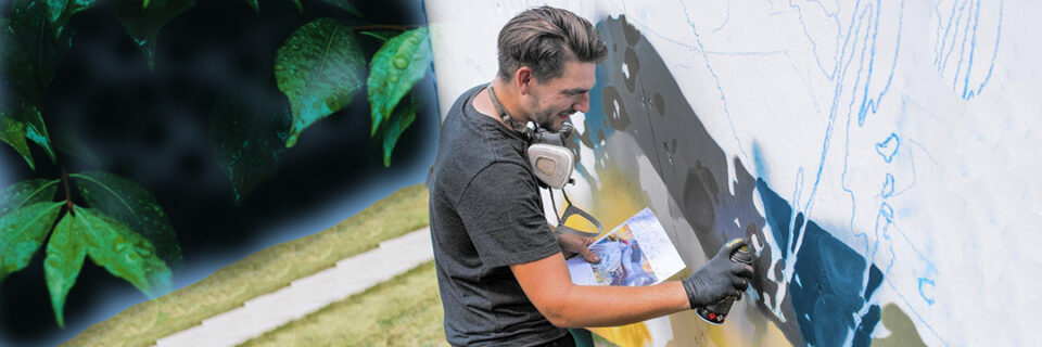 Arcy - live large mural painting (to 6 pm)